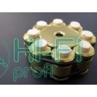 Прижим (клэмп) для пластинок Thorens Stabilizer Golden in Wooden Box фото 3