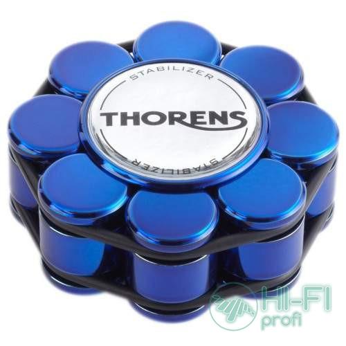 Прижим (клэмп) для пластинок Thorens Stabilizer Blue in Wooden Box